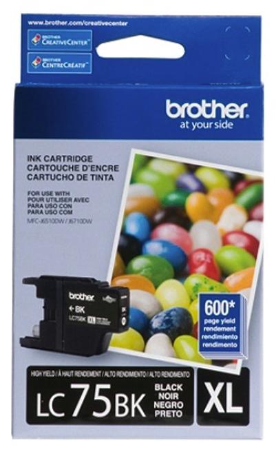 Original Brother LC-75 Black Ink Cartridge