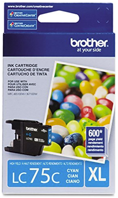Original Brother LC-75 Cyan High Yield Ink Cartridge