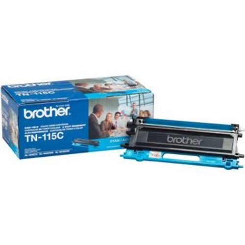 Original Brother TN-115C Cyan High-Yield Laser Toner Cartridge
