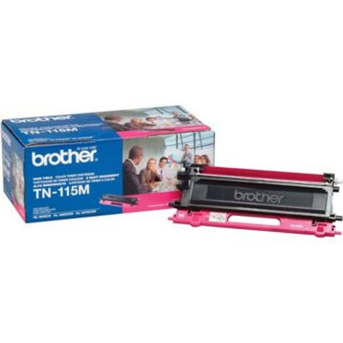 Original Brother TN-115M Magenta High-Yield Laser Toner Cartridge