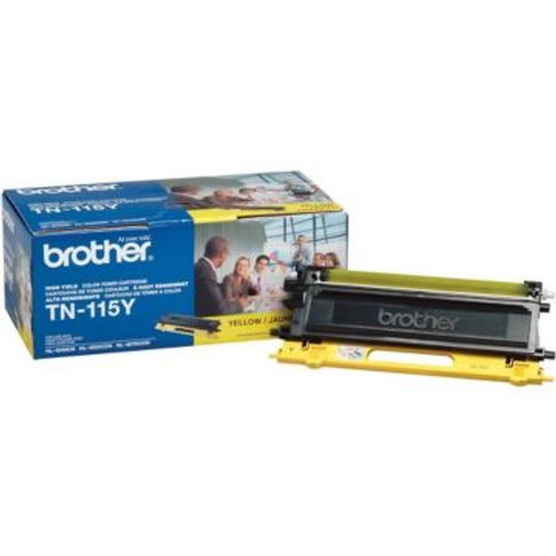 Original Brother TN-115Y Yellow High-Yield Laser Toner Cartridge