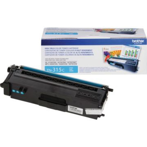 Original Brother TN-315C Cyan High-Yield Laser Toner Cartridge
