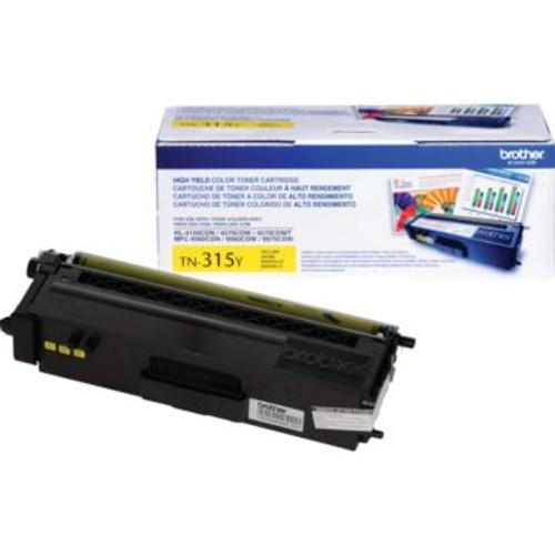 Original Brother TN-315Y Yellow High-Yield Laser Toner Cartridge