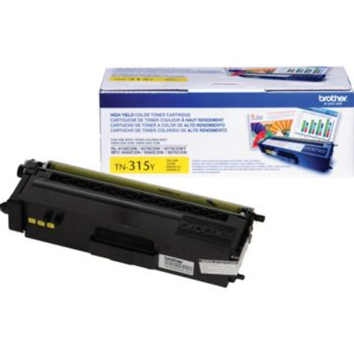 Original Brother TN-315Y Yellow High-Yield Laser Toner Cartridge
