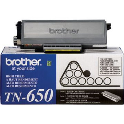 Original Brother TN-650 Black High-Yield Laser Toner Cartridge