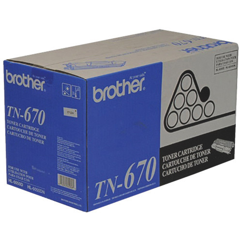 Original Brother TN-670 Black High-Yield Laser Toner Cartridge