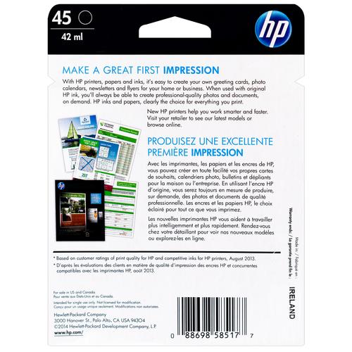 51645A | HP 45 | Original Ink Cartridge - Black