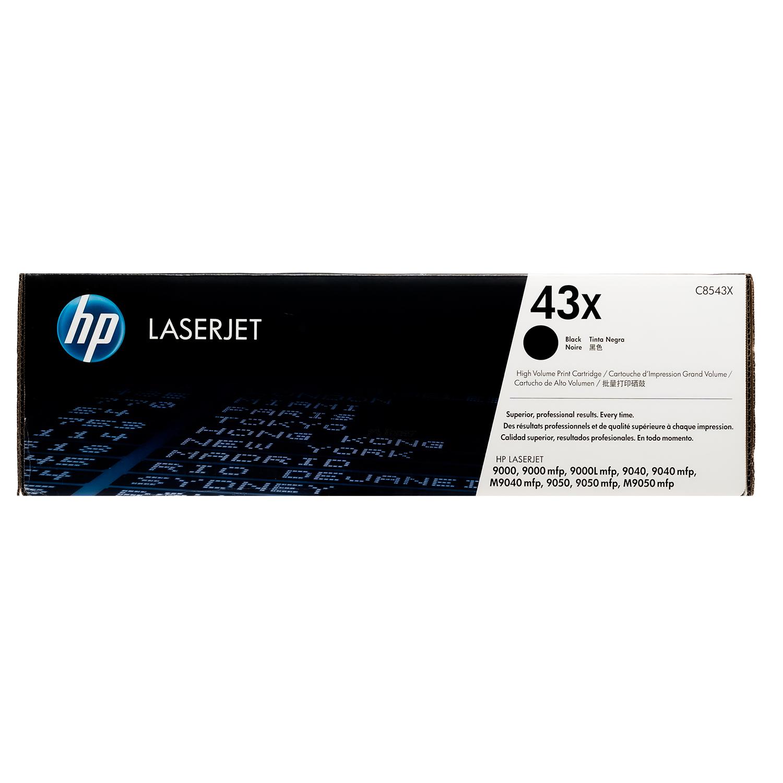 C8543X | HP 43X | Original HP High-Yield Toner Cartridge – Black