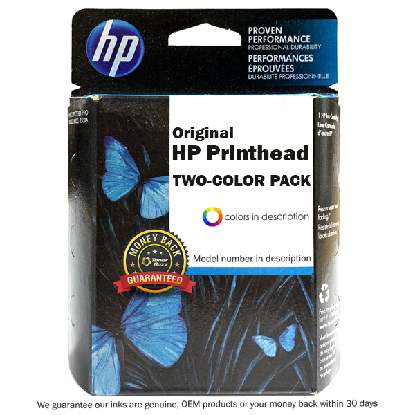 Original HP 70 C9409A Matte Black and Red Printhead (Two-Color Pack)