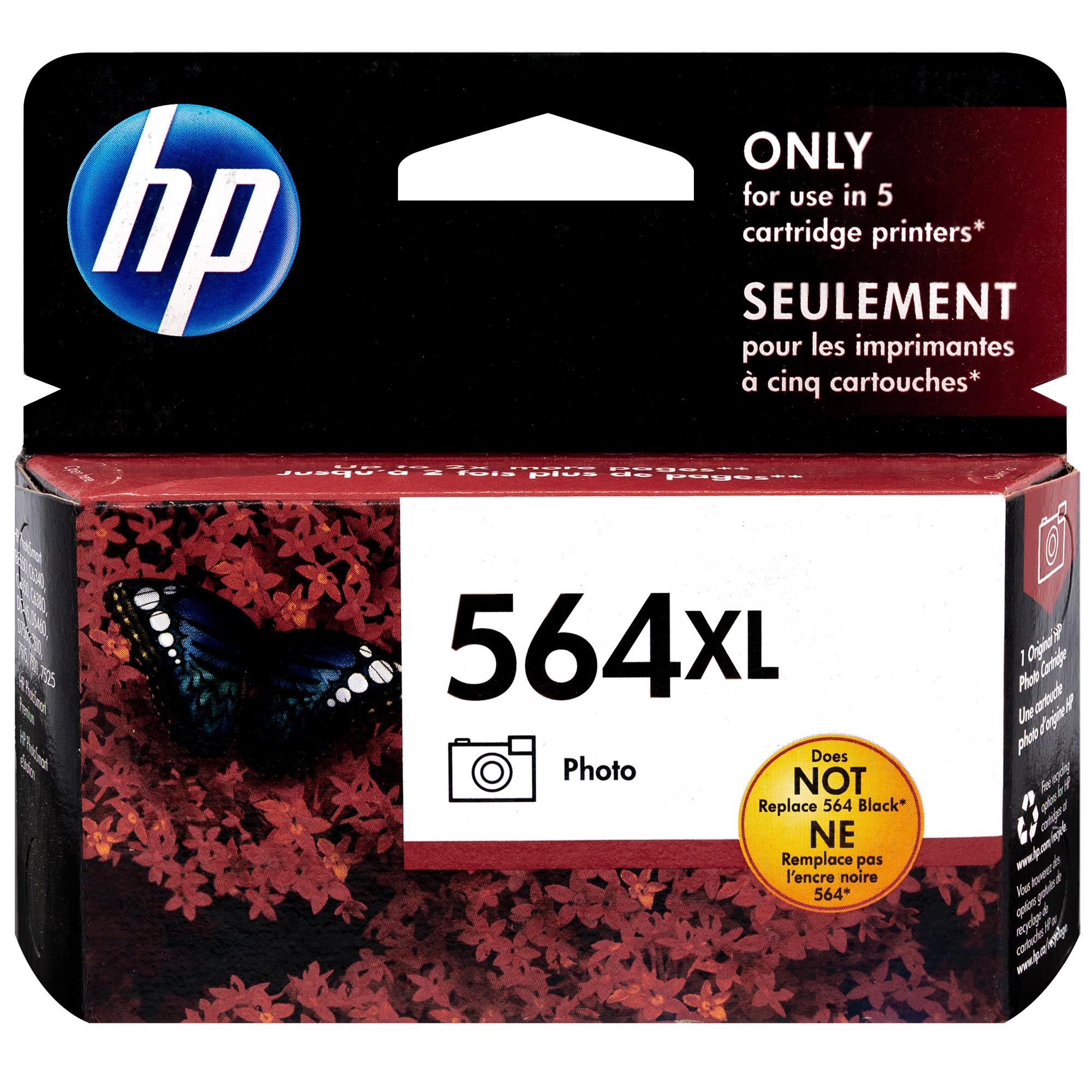 CB322WN   HP 564XL   Original HP High-Yield Ink Cartridge – Photo Black