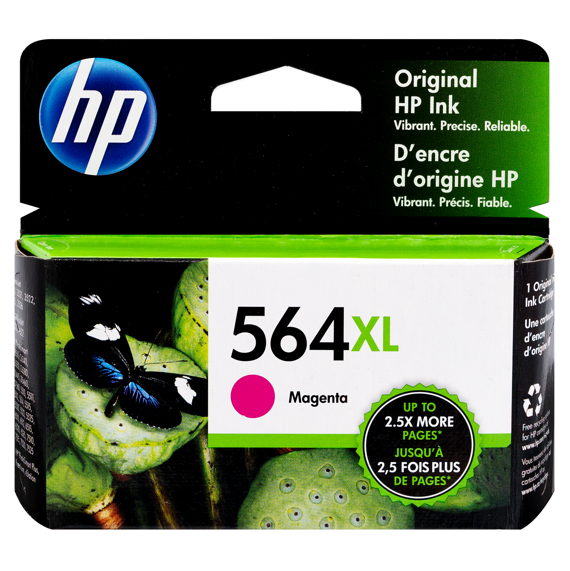 CB324WN   HP 564XL   Original HP High-Yield Ink Cartridge – Magenta