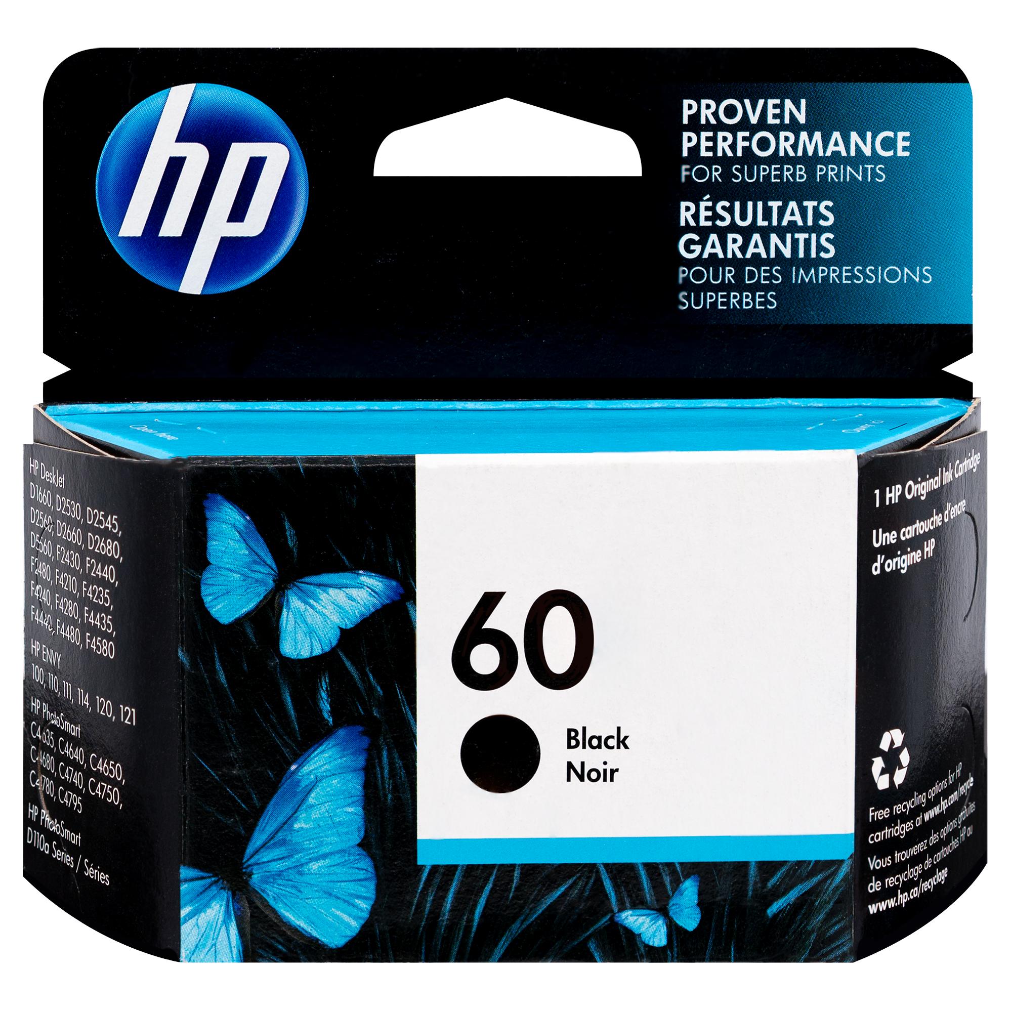 Original HP CC640WN #140 #60 DeskJet D2500 2530 Black Ink Cartridge