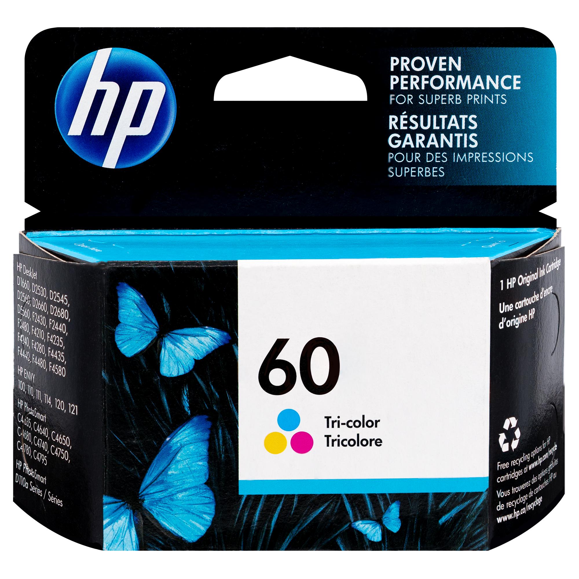 CC643WN | HP 60 | Original HP Ink Cartridge – Tri-Color