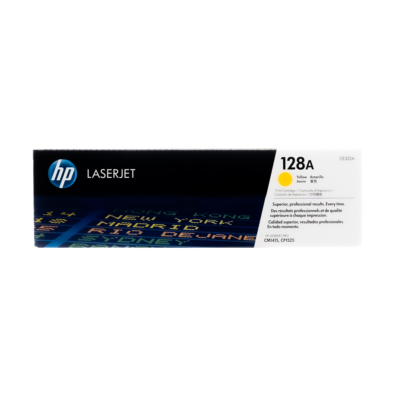 CE322A   HP 128A   Original HP Toner Cartridge – Yellow