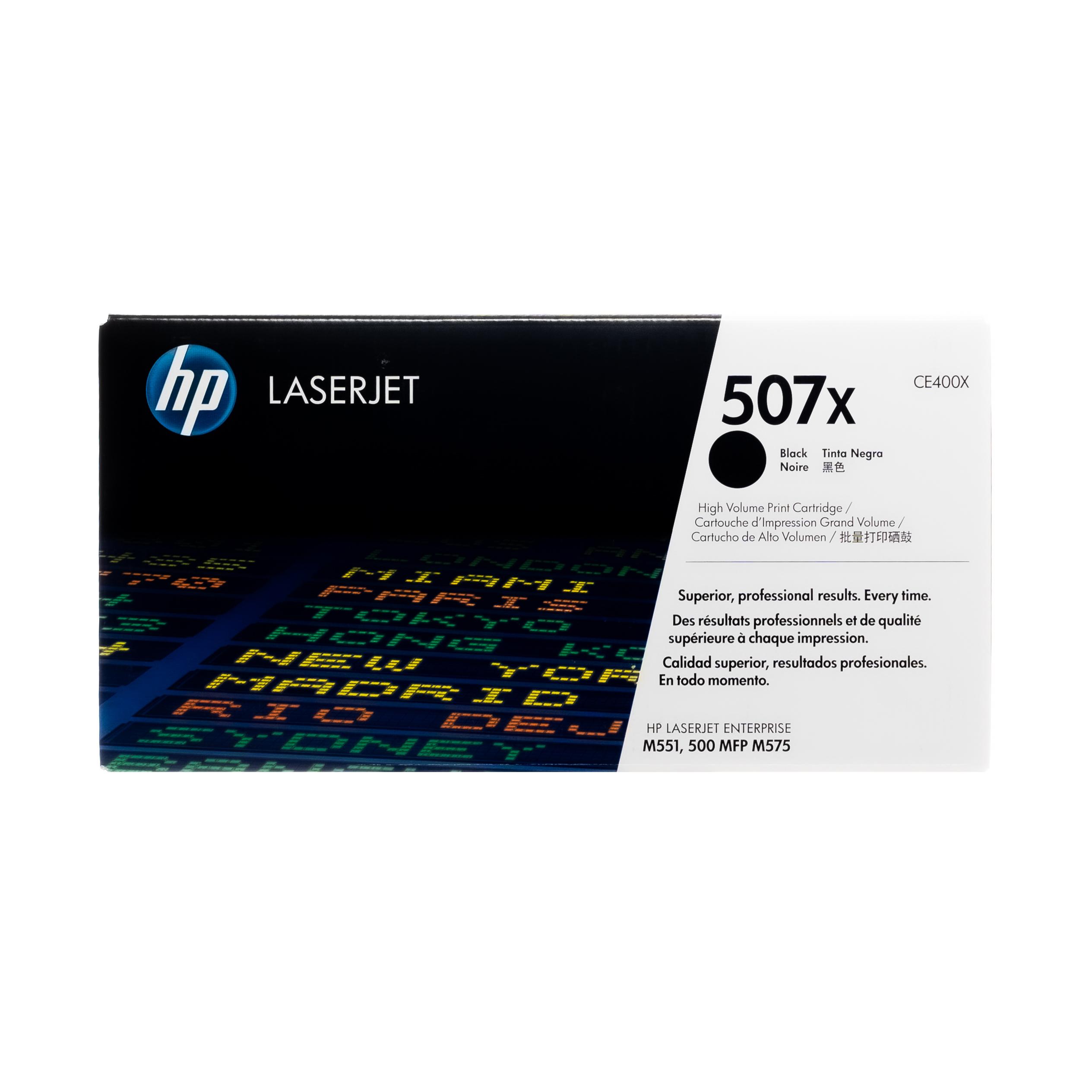 CE400X | HP 507X | Original HP High-Yield Toner Cartridge – Black