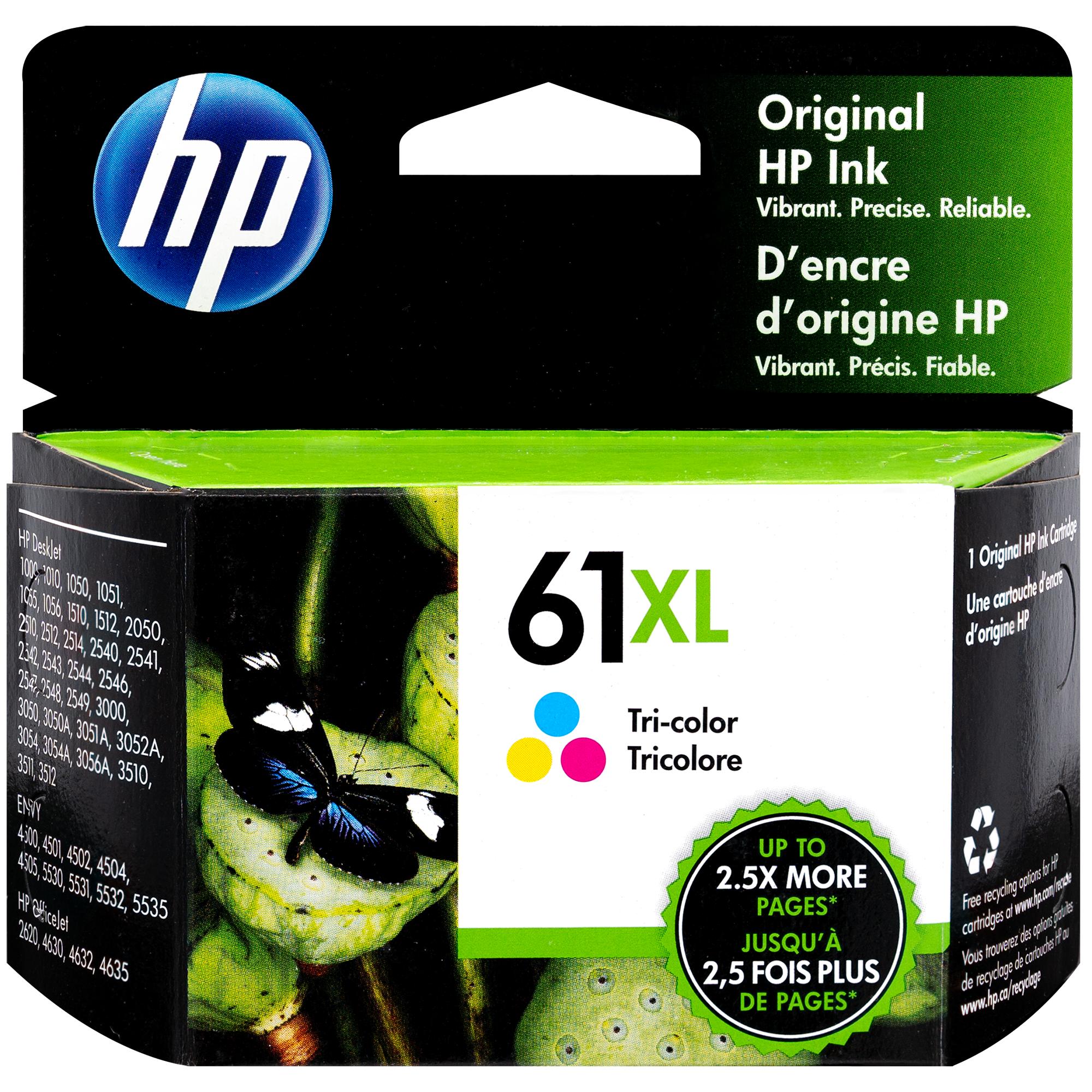 CH564WN   HP 61XL   Original HP High-Yield Ink Cartridge – Tri-Color