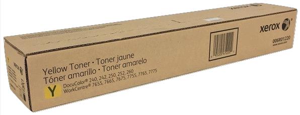 Original Xerox 006R01220 Docu240/Wc7765 Yellow Toner