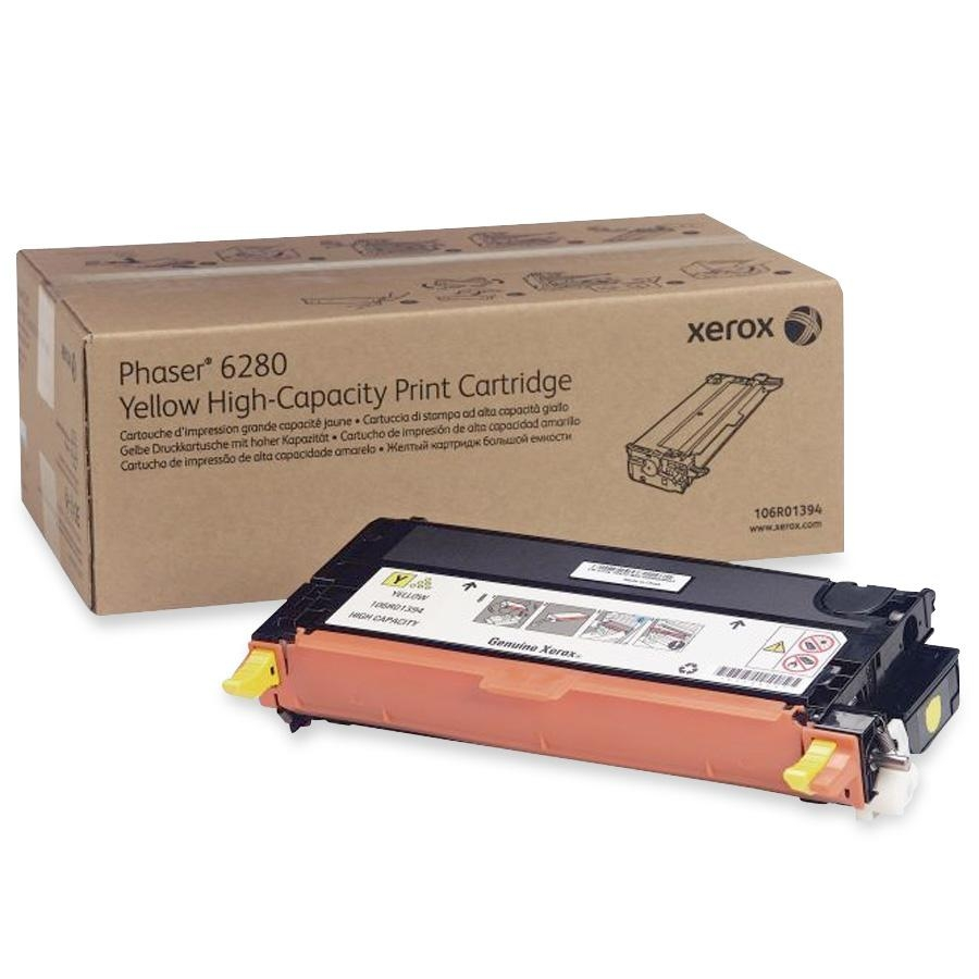 106R01394 | Original Xerox High-Yield Laser Toner Cartridge - Yellow