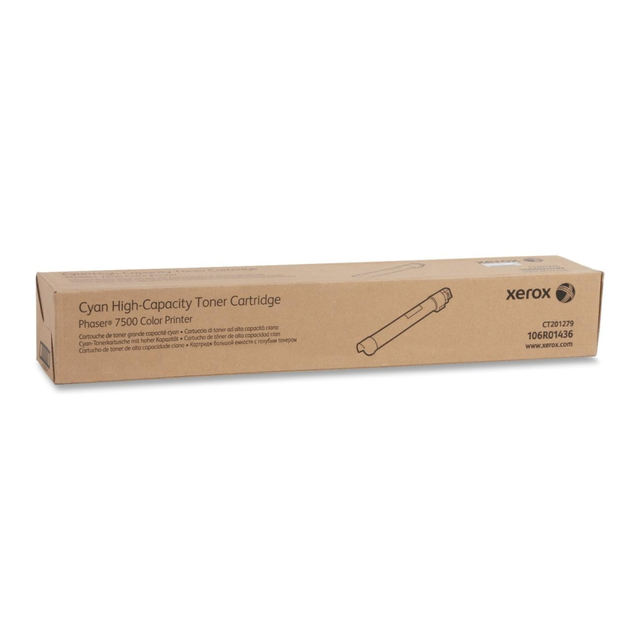 106R01436 | Original Xerox High-Yield Laser Toner Cartridge - Cyan