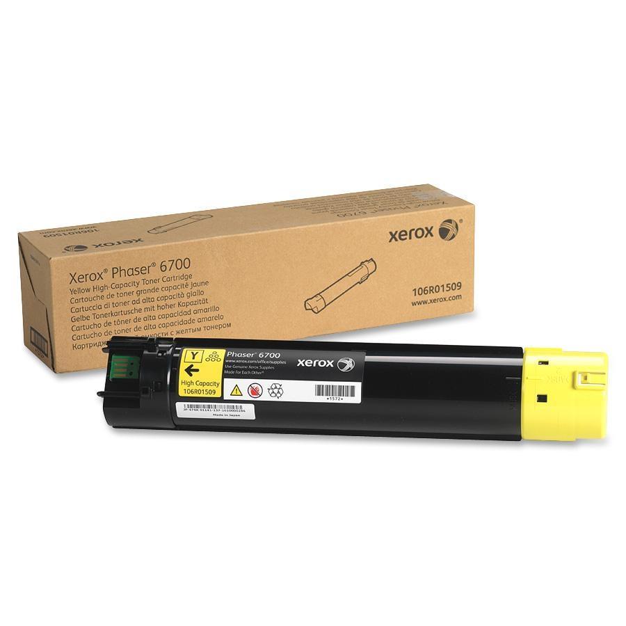 106R01509 | Original Xerox Phaser 6700dn High-Capacity Toner Cartridge - Yellow