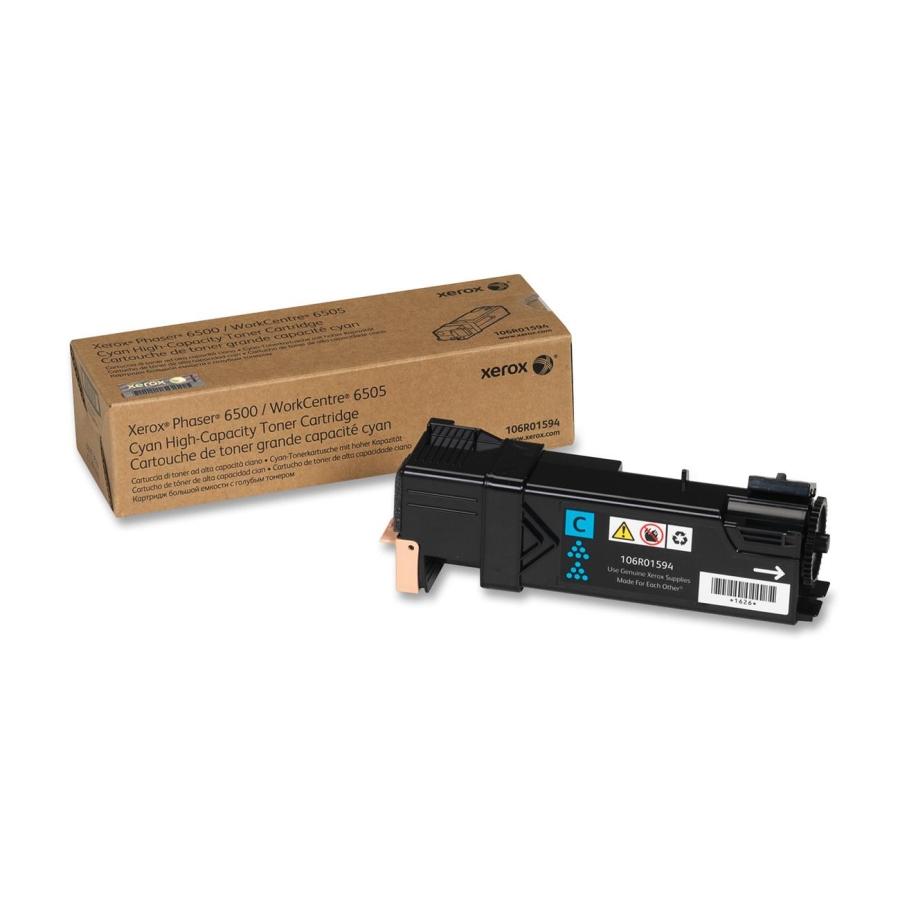 106R01594 | Original Xerox Phaser 6500 High-Capacity Toner Cartridge - Cyan