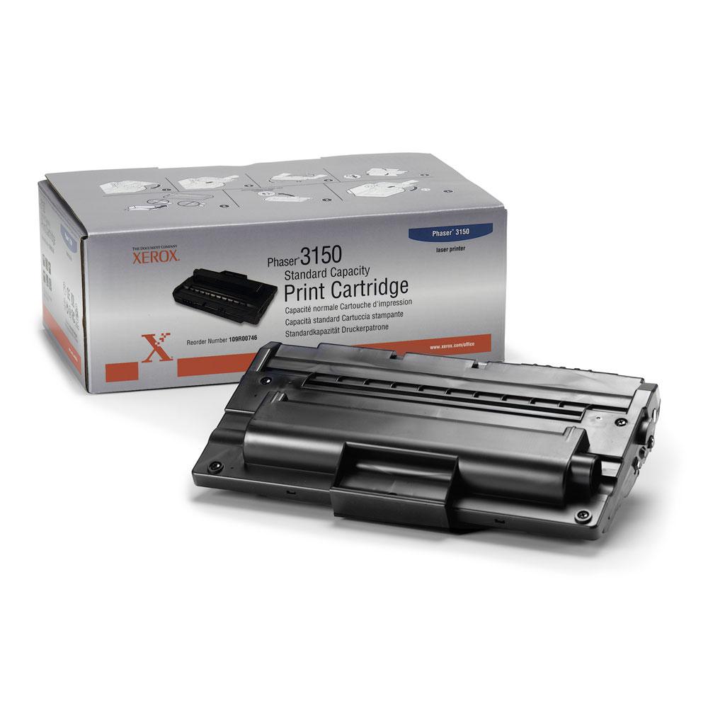 Original Xerox 109R00746 Black Standard Capacity Print Toner Cartridge for Phaser 3150