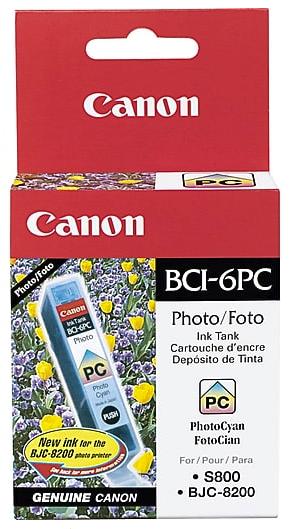 Original Canon Bci-6pc 4709A003AA Photo Cyan Ink Cartridge