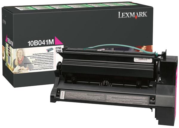 Original Lexmark 10B041M C750 Magenta Prebate Return Program Laser Toner Cartridge