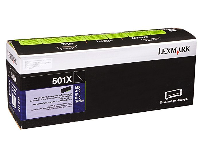 Original Lexmark 50F1X00 501X Ms410 Black Return Program Extra High-Yield Unison Toner Cartridge