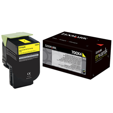 Original Lexmark 70C0X40 700x4 Yellow Extra High-Yield Toner Cartridge Unison