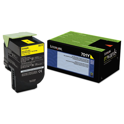 Original Lexmark 701Y 70C10Y0 Return Program Yellow Laser Toner Cartridge