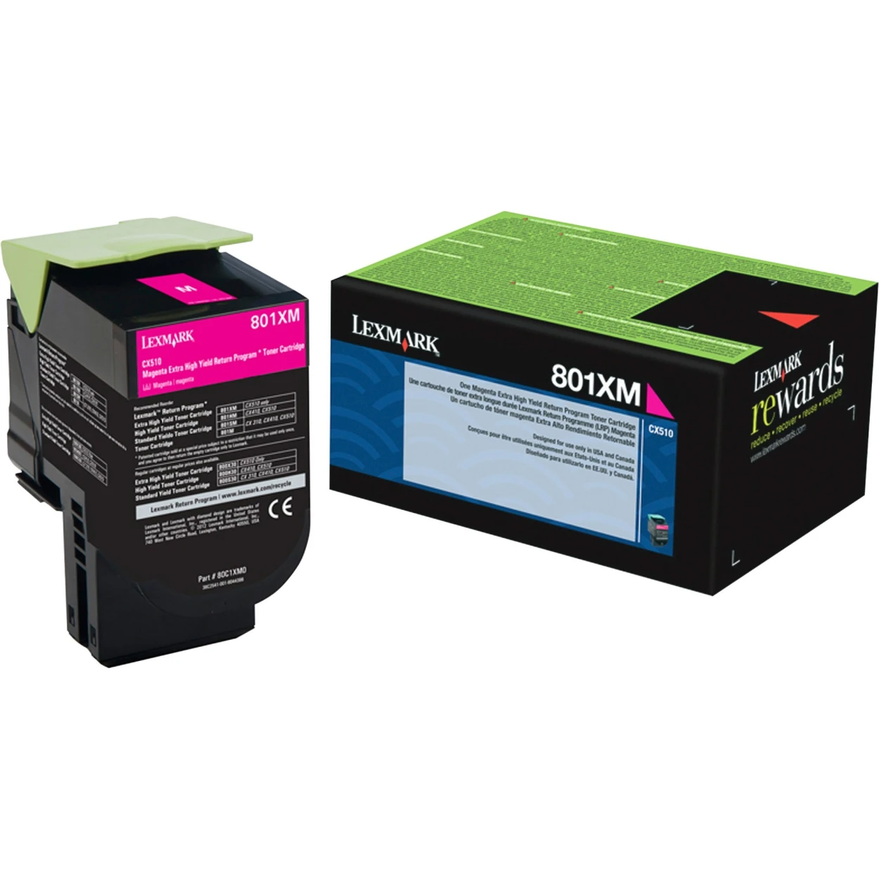 Original Lexmark 80C1XM0 801XM Management Return Program Extra High-Yield Toner Cartridge Unison