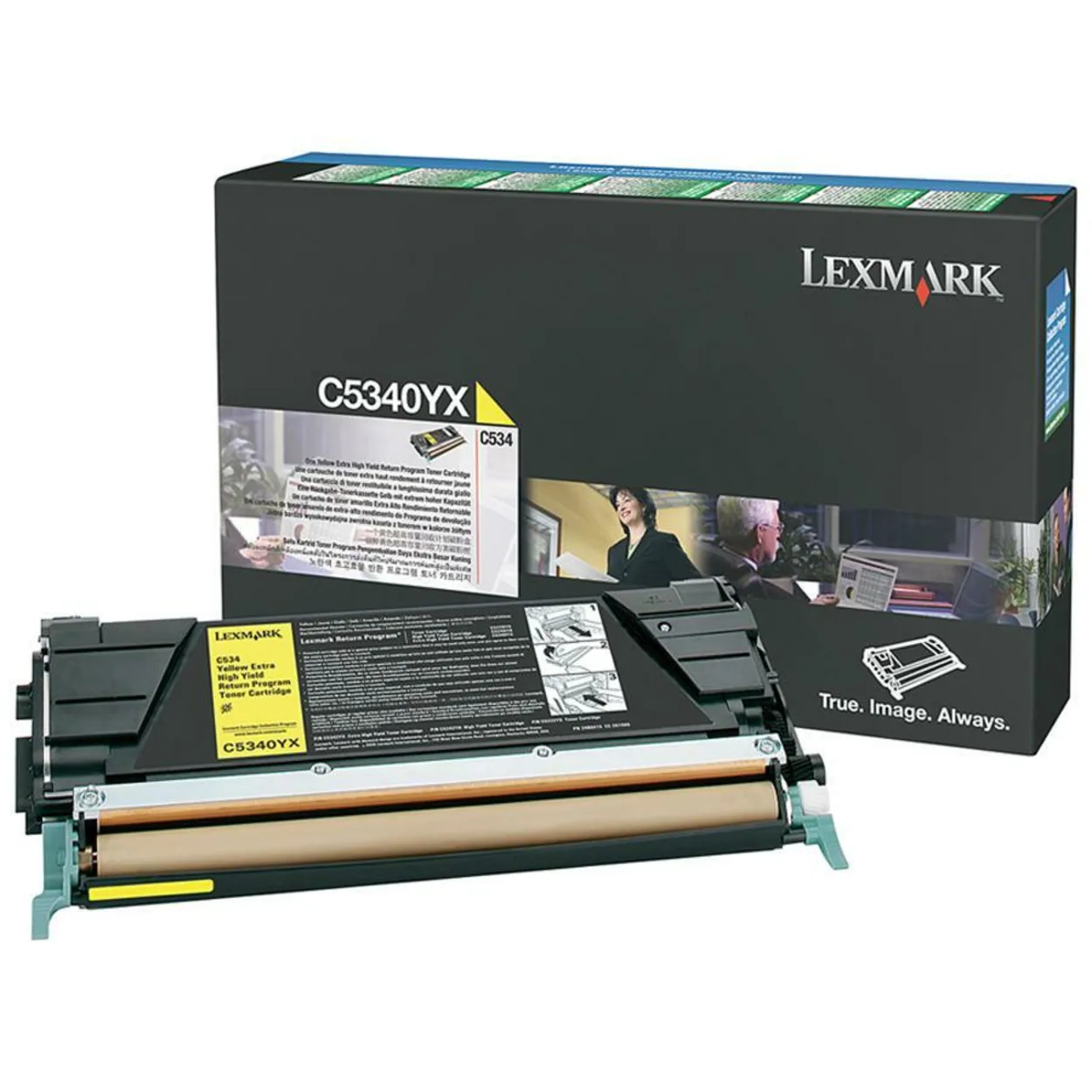 riginal Lexmark C5340YX C534 Return Program Yellow Extra High-Yield Toner Cartridge