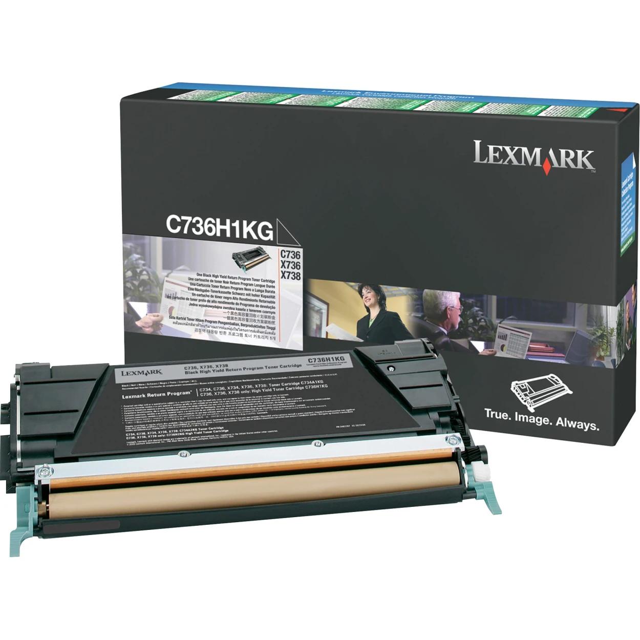 Original Lexmark C736H1KG *RP High-Yield Laser Toner Cartridge  Black