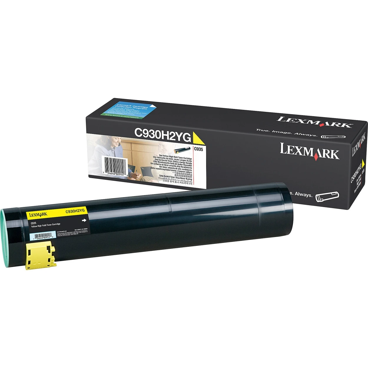 Original Lexmark C930H2YG C935 Yellow High Yield Toner Cartridge