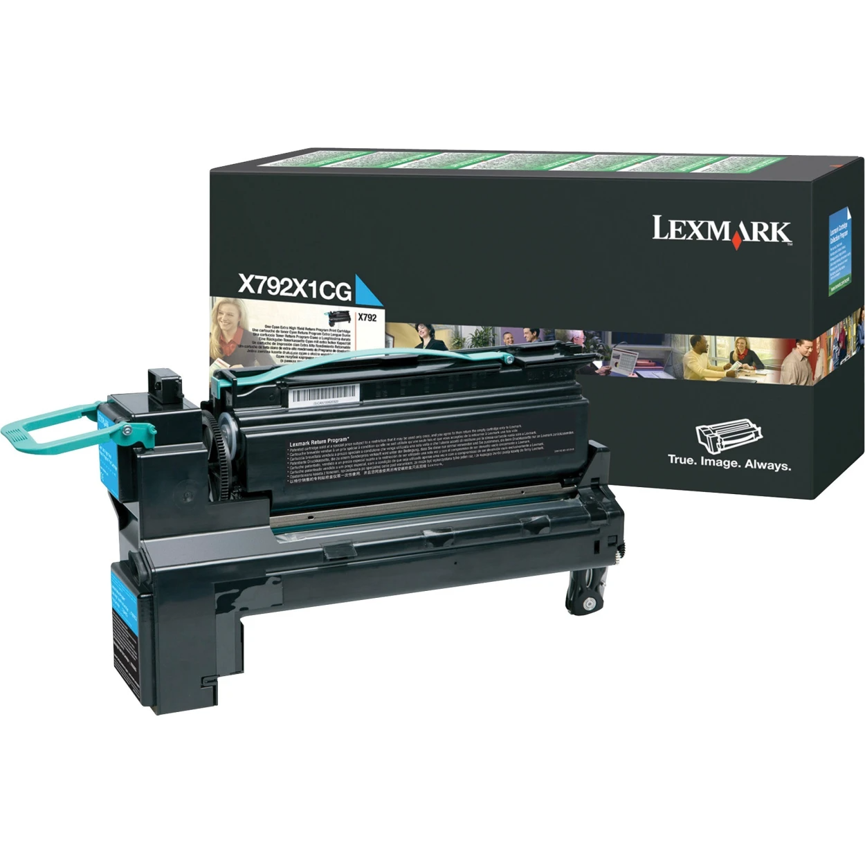 Original Lexmark X792 Return Program Extra High-Yield Laser Toner Cartridge  Cyan