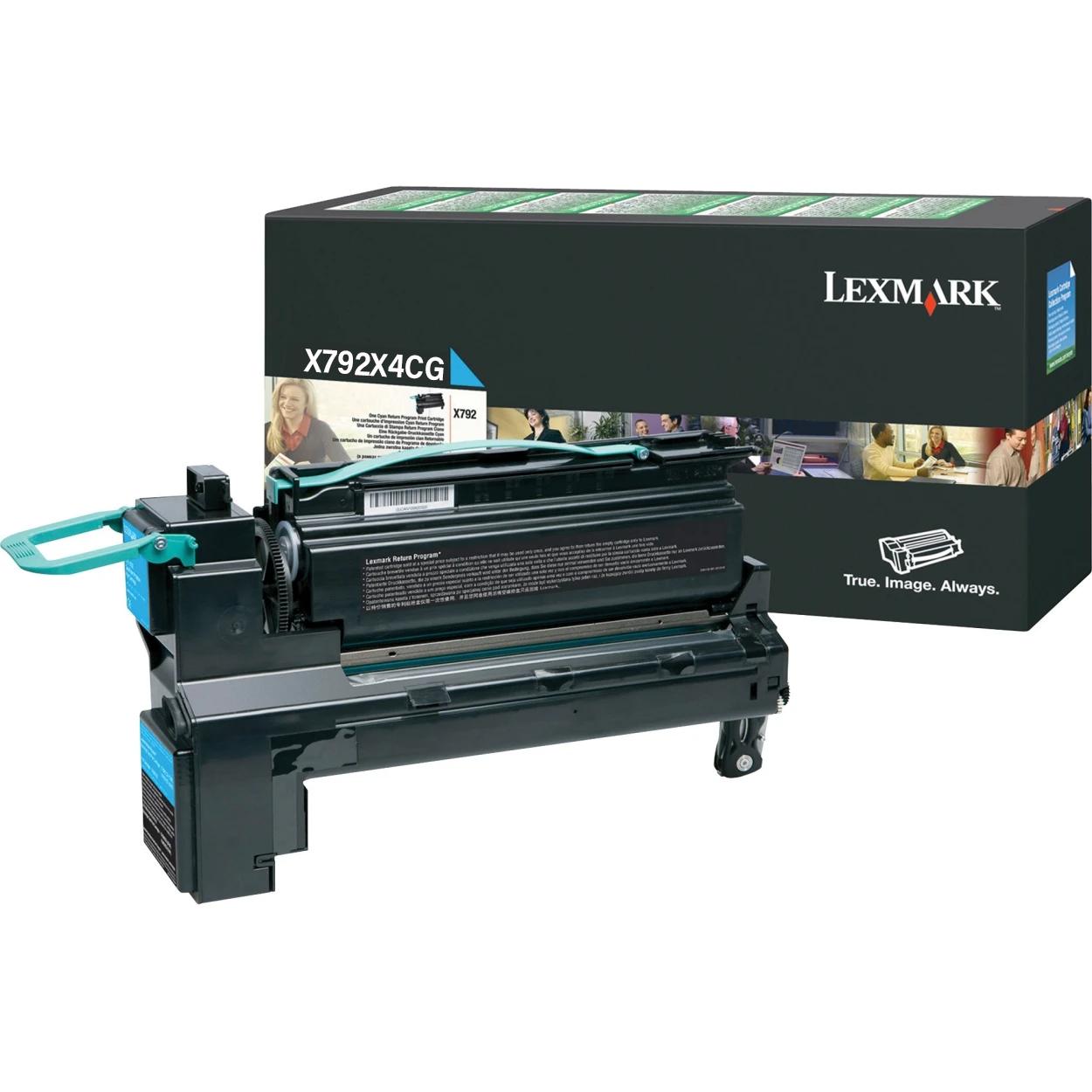 Original Lexmark X792X4CG X792 Cyan Extra High-Yield Toner Cartridge