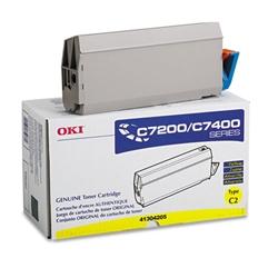 Original Oki Okidata C7200/C7400 Series High-Capacity Yellow Toner Cartridge 41304205