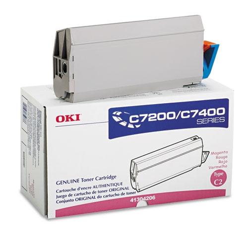 Original Oki C7200/C7400 41304206 Magenta Toner Cartridge