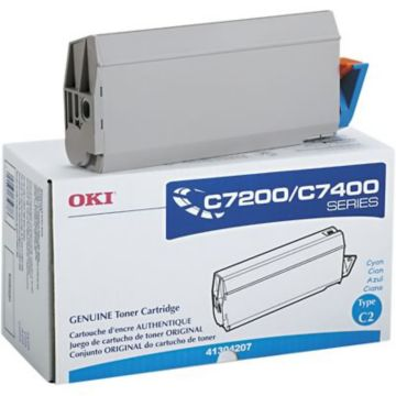 Original OKI 41304207 Laser Toner Cartridge  Cyan