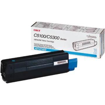 Original OKI 42127403 Cyan High-Yield Laser Toner Cartridge