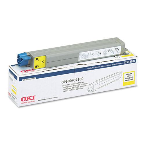Original OKI 42918901 C9600/ C9800 Yellow Toner Cartridge