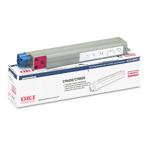Original Oki 42918902 C9600 C9800 Magenta Toner Cartridge