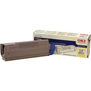 Original OKI 43324417 Toner Cartridge for C6100  Yellow