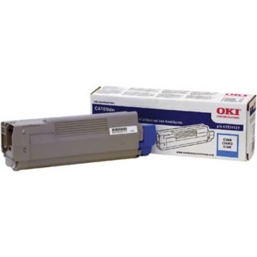 Original OKI 43324419 Toner Cartridge for C6100  Cyan
