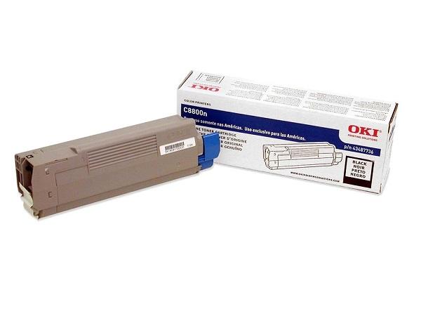 43487736 | Original Okidata C8800 Toner Cartridge - Black
