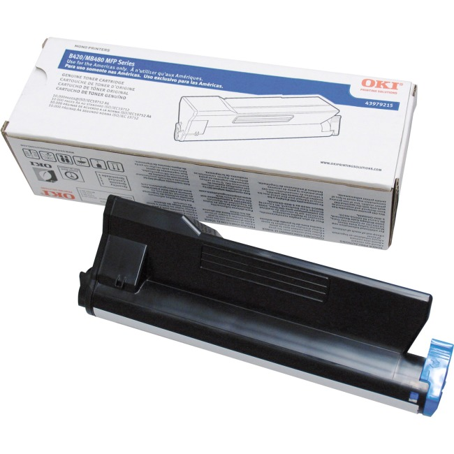 43979215 | Original Okidata MB480 HY Toner Cartridge - Black