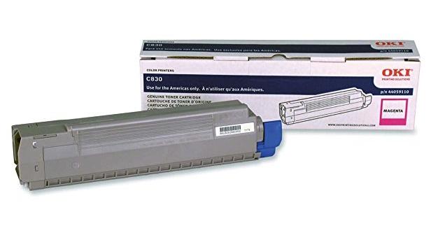 Original OKI OKIDATA Type C14 Magenta Toner Cartridge for C830 Series 44059110