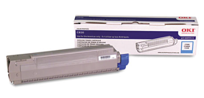 Original OKI OKIDATA C830 Cyan Toner Cartridge 44059111