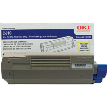 Original OKI 44315301 Laser Toner Cartridge  Yellow